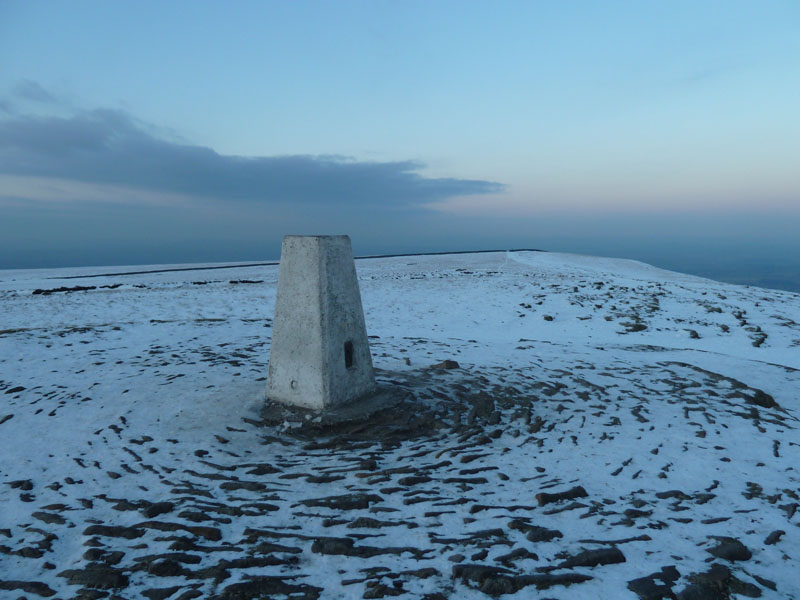Pendle in snow