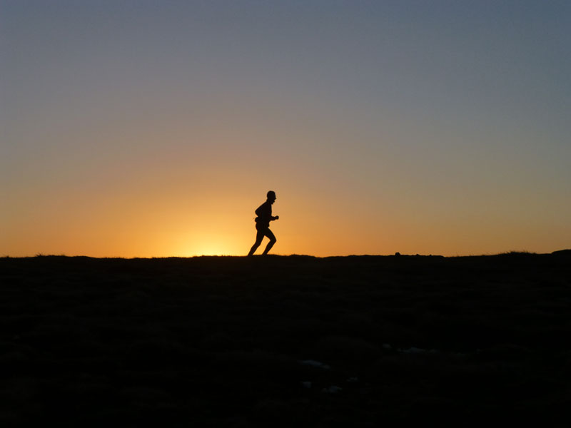 Runner on Pendle