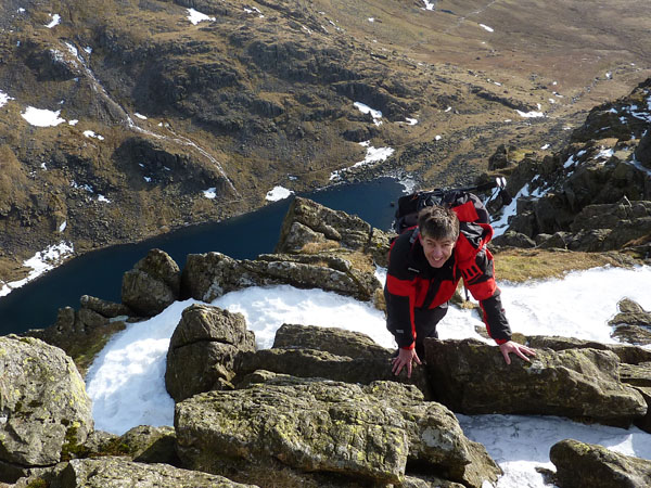 Neil on Dow Crag