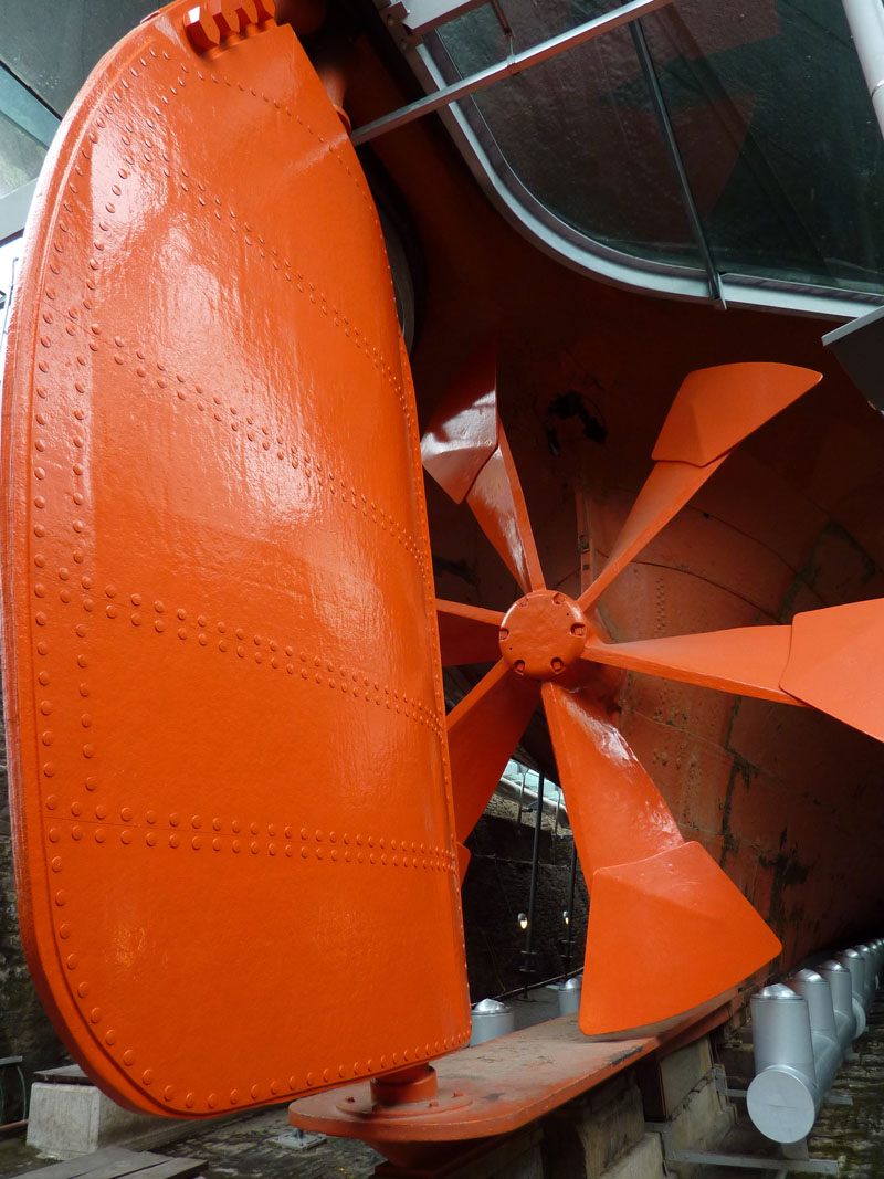 Rudder and propellor