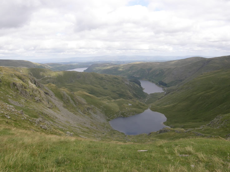Haweswater and Small Water from the Nan Bield ridge